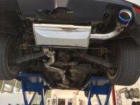Invidia Q300 Subaru Impreza 08-11 2,0L,2.5L Turbo Titan/blau Endr.Single