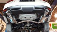 Invidia Q300 Subaru Levorg 1.6T 170PS 2015-2019 Edelstahl Endrohre