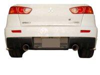 Invidia Q300 Mitsubishi - Lancer Evolution X 08/- Titan blau Endrohre