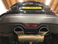 GTSPEC CATBACK Exhaust Toyota C-HR 1.2L Turbo, 1.8L Hybrid ab 2016- bestehend aus:
