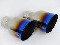 Invidia Gemini Nissan 370Z Titan/blau glatt Endrohre